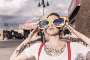 Girl With Big Sunglasses Free Photo —By Ryan McGuire